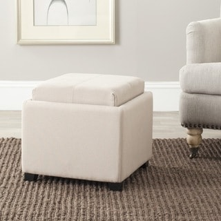 Safavieh Harrison Grey Single Tray Storage Ottoman