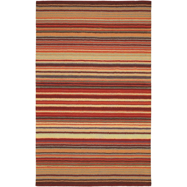 Havre Harve Brown Sugar Striped Wool Rug