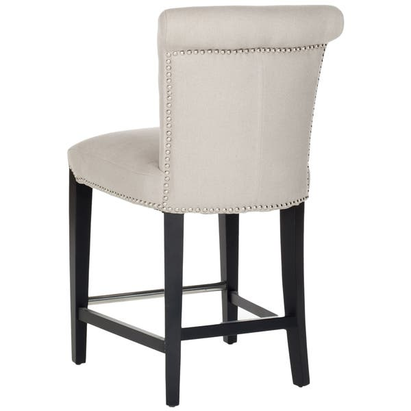 Surprising Shop Safavieh Seth Beige 26 Inch Counter Stool 18 7 X Bralicious Painted Fabric Chair Ideas Braliciousco