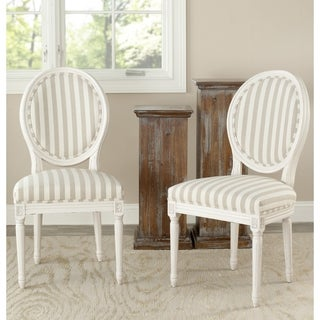 Safavieh Old World Dining Reims Cream Oval Dining Chairs (Set of 2)