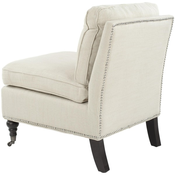 Safavieh Randy Beige Armless Club Chair   Free Shipping Today    Overstock.com   14846657