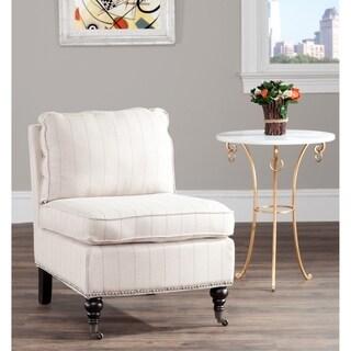 Safavieh Randy Beige Pinstripe Armless Club Chair