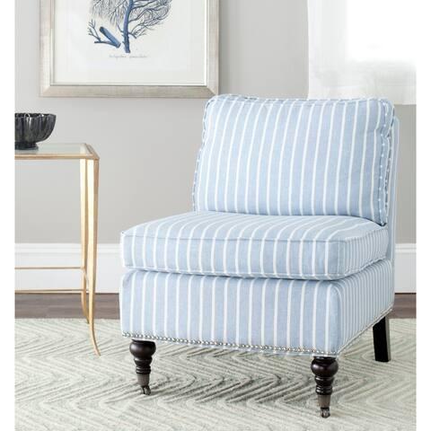 "SAFAVIEH Randy Light Blue Armless Club Chair - 24"" x 29.9"" x 32.7"""