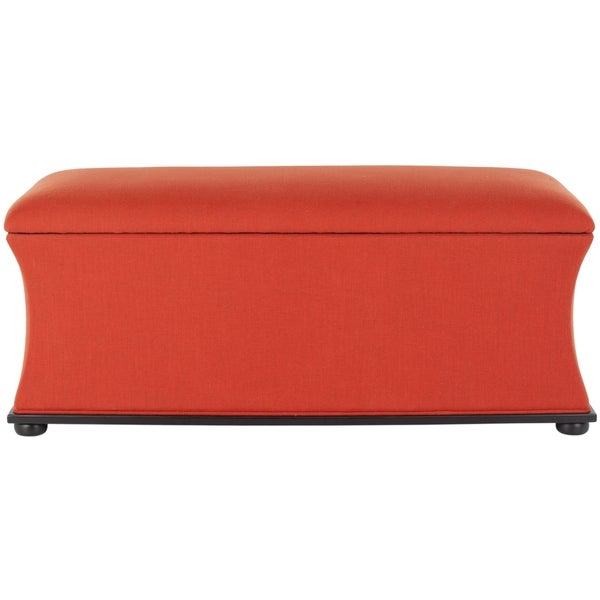 Safavieh Aroura Orange Storage Bench