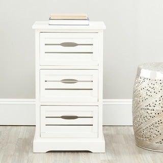 Safavieh Samara 3-Drawer Storage Cream Cabinet
