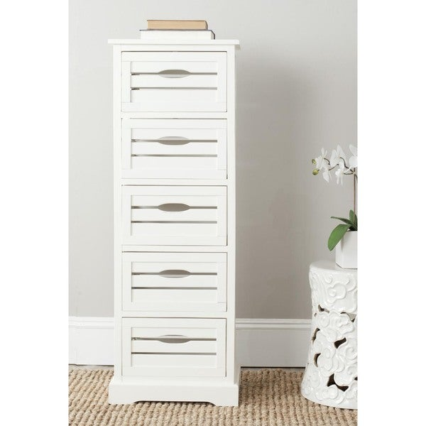 Safavieh Samara Storage 5-Drawer Cream Cabinet