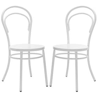 Safavieh Metropolitan Dining Gatria White Dining Chairs (Set of 2)