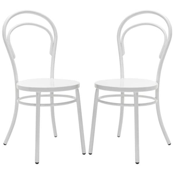 Safavieh Metropolitan Dining Gatria White Dining Chairs (Set of 2)
