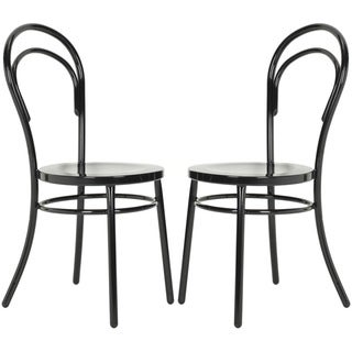 Safavieh Metropolitan Dining Gatria Black Dining Chairs (Set of 2)