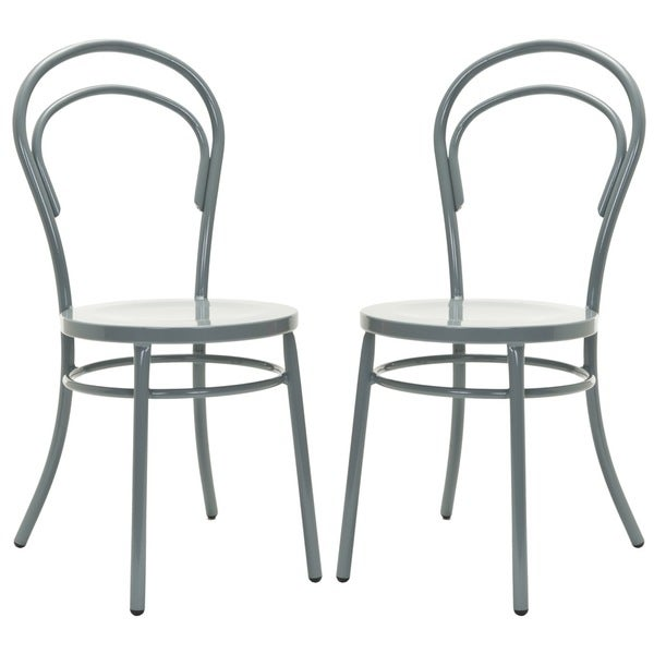 Safavieh Metropolitan Dining Gatria Grey Side Chairs (Set of 2)
