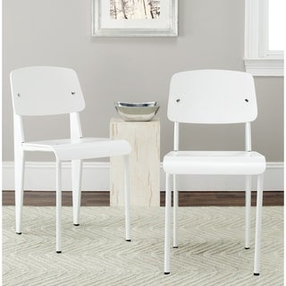 Safavieh Metropolitan Dining Nembus White Dining Chairs (Set of 2)