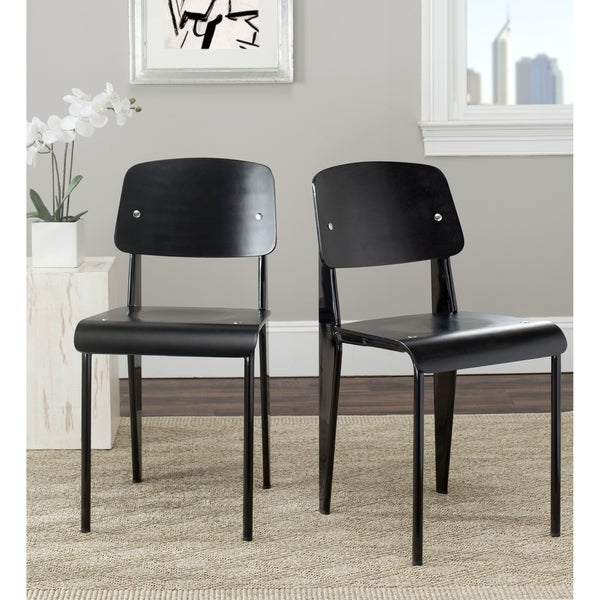 Safavieh Metropolitan Dining Nembus Black Side Chairs (Set of 2)