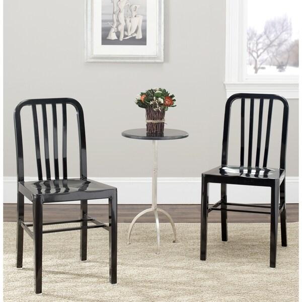 Safavieh Metropolitan Dining Polaris Black Side Chairs (Set of 2)