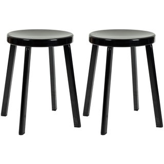 Safavieh Indus Black 30-inch Bar Stools (Set of 2)
