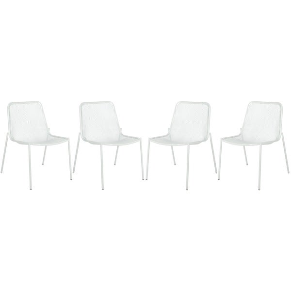 Safavieh Metropolitan Dining Orion White Dining Chairs (Set of 4)
