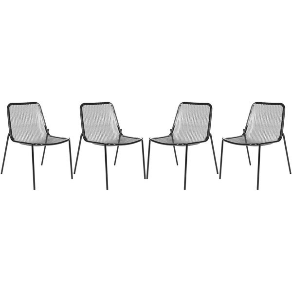 Safavieh Metropolitan Dining Orion Black Dining Chairs (Set of 4)