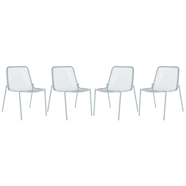 Safavieh Metropolitan Dining Orion Grey Side Chairs (Set of 4)