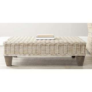Safavieh Leary Washed Natural Wicker Bench