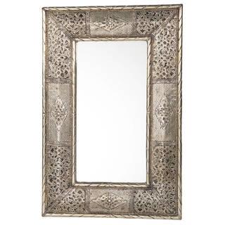 "Handmade Metalwork Mirror - 24"" x 16"" (Morocco)"