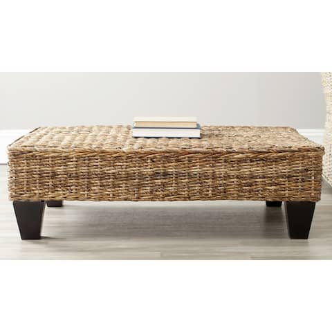"Safavieh Leary Natural Wicker Bench - 40"" x 27"" x 7.3"""