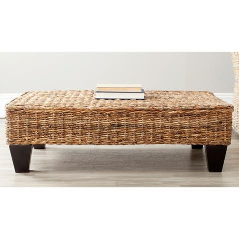 """SAFAVIEH Leary Natural Wicker Bench - 40.6"""" x 27.6"""" x 12.2"""""""