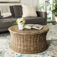 Safavieh Ruxton Natural Wicker Ottoman