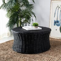 Safavieh Ruxton Storage Black Wicker Coffee Table