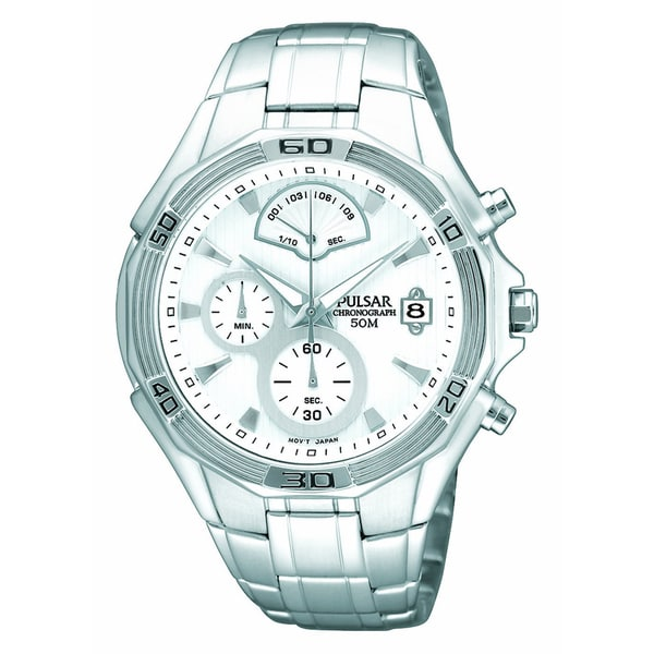Pulsar Men's Stainless Steel Chronograph Watch