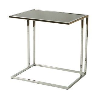 Norway Chrome Black Tempered Glass End Table