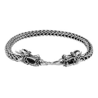 Handmade Double Headed Dragon Secrets Sterling Silver Bracelet (Thailand)