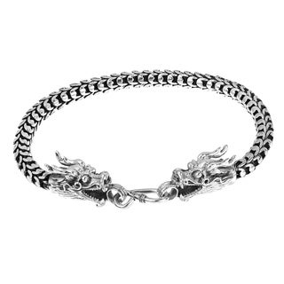 Handmade Loyal Dragon Sterling Silver Bracelet (Thailand)