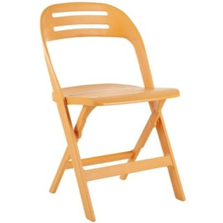 Safavieh Danielle Orange Indoor/ Outdoor Folding Chairs (Set of 4)