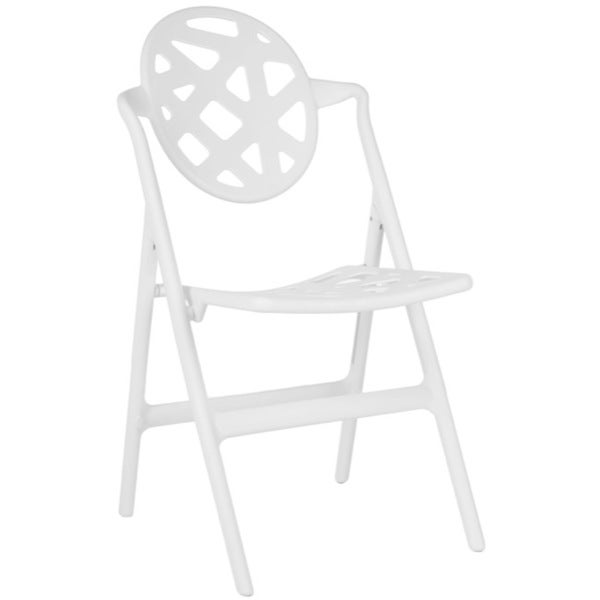 Safavieh Kendall White Indoor/ Outdoor Folding Chairs (Set of 4)