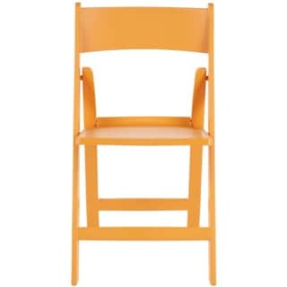 Safavieh Renee Orange Indoor/ Outdoor Folding Chairs (Set of 4)