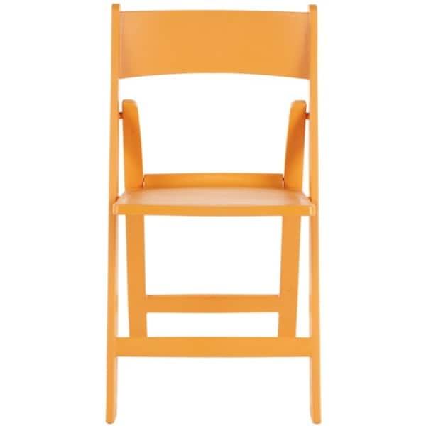 Safavieh Renee Orange Indoor/ Outdoor Folding Chairs (Set of 4)
