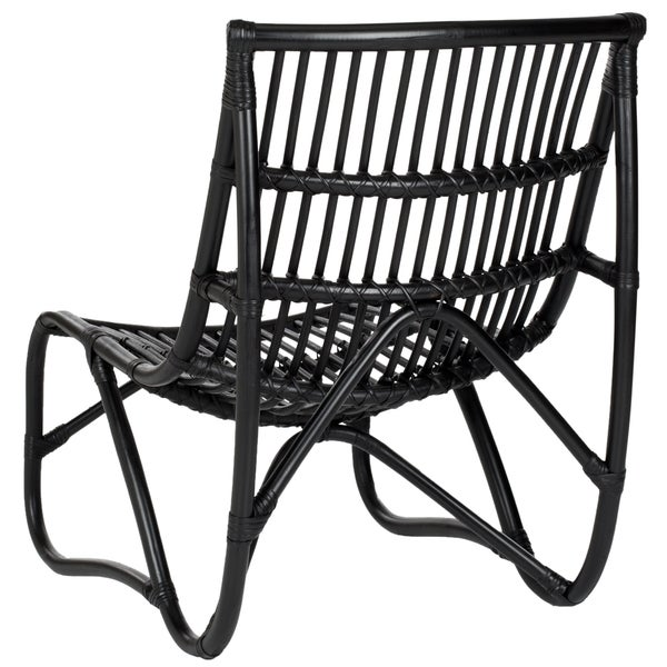 Safavieh Shenandoah Black Wicker Chair And Ottoman Set   Free Shipping  Today   Overstock.com   14846875