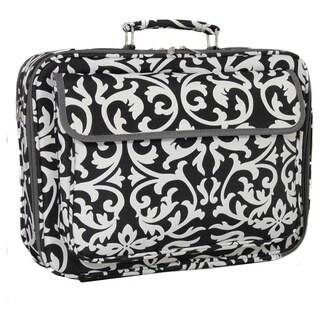 World Traveler 17-inch Black and White Designer Prints Laptop Computer Case
