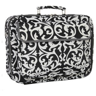World Traveler 17-inch Black and White Designer Prints Laptop Computer Case