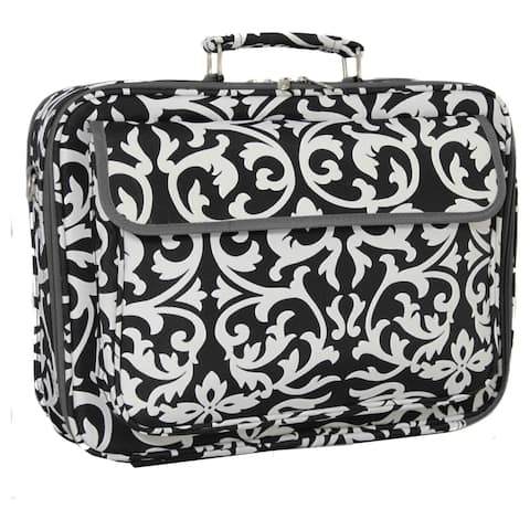 World Traveler 17-inch Black and White Designer Prints Laptop Computer Case - 17""