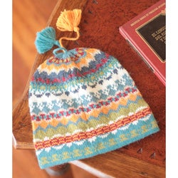 Handmade Alpaca Wool 'Blue Winter' Hat (Peru)