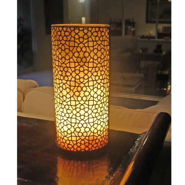 Handmade Luminous Alabaster Lamp Egypt