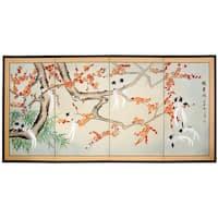 Birds of Longevity Silk Screen (China)