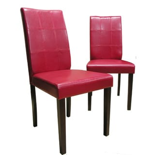 Warehouse of Tiffany Evellen Red Dining Chairs (Set of 2)