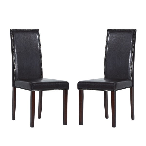 Warehouse of Tiffany Blazing Brown Dining Chairs (Set of 2)