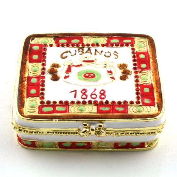 Objet d'art 'Havana Stogie' Cigar Box Trinket Box