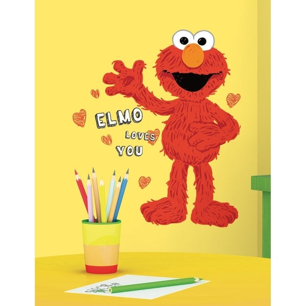 Roommates Sesame Street Elmo Loves You Peel u0026 Stick Giant Wall Decals
