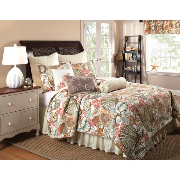 Brushed Ashore 3-piece Quilt Set and Bedskirt, Euro Sham Separates