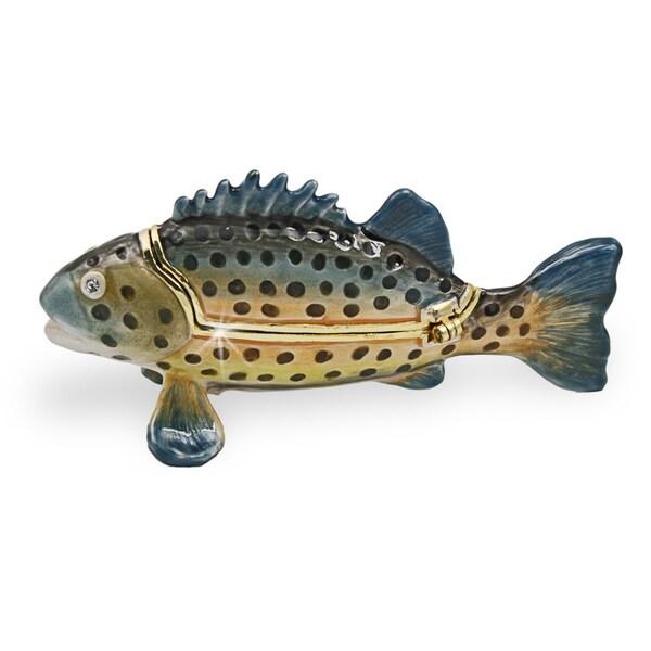 Objet d'art 'Giant Sea Bass' Grouper Trinket Box