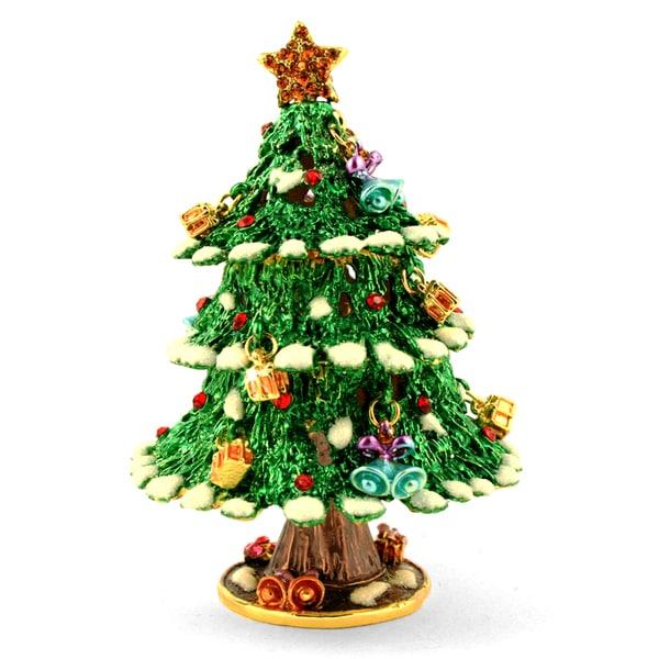 Objet d'art 'Silent Night' Christmas Tree Trinket Box