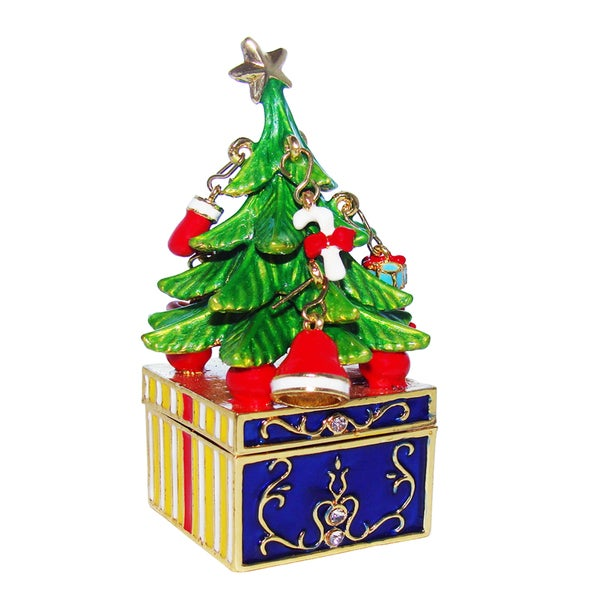 Objet d'art 'Tannenbaum Christmas' Tree On the Box Trinket Box
